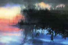 detail, Reeds and Reflections at Sunset