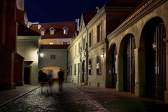 Krakow Street at Night