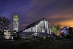 Silo, Old Barn, and Horse Trailer
